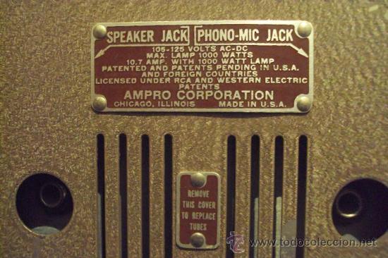 Antigüedades: PROYECTOR SONORO DE CINE 16 MM. AMPRO STYLIST SOUND PROJECTOR - MADE IN USA AÑOS 40/50 - Foto 16 - 29334782
