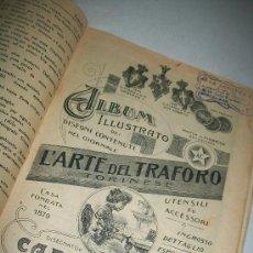 Antigüedades: L´ARTE DEL TRAFORO, TORINESE.- S/F.- ALBUM ILLUSTRATO DEI DISEGNI CONTENUTI NEL GIORNALE- TORINO. Lote 29459487