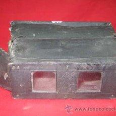 Antigüedades: ANTIGUO ESTEREOSCOPIO EN CARTON FORRADO. CON FOTOGRAFÍAS.. Lote 29386013