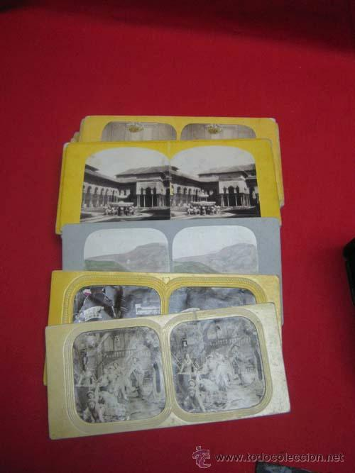 Antigüedades: Antiguo estereoscopio en carton forrado. Con fotografías. - Foto 4 - 29386013