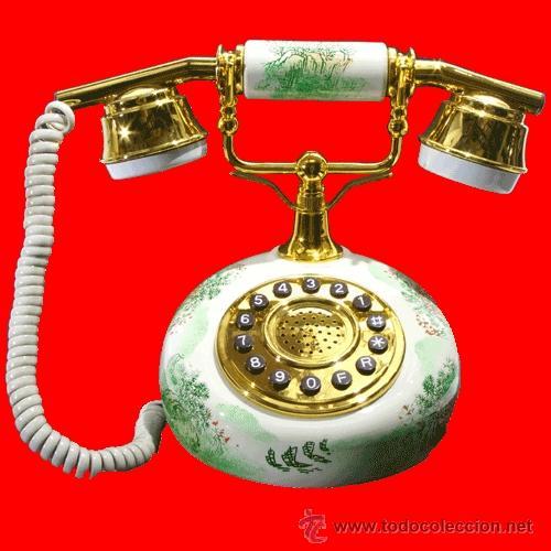 TELEFONO ANTIGUO ESTILO AÑOS 20 , MARFIL/DORADO (Antigüedades - Técnicas - Teléfonos Antiguos)
