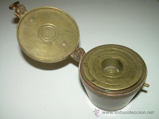 Antigüedades: PONDERALES PARA PESAR POLVO DE ORO. - Foto 4 - 29427172