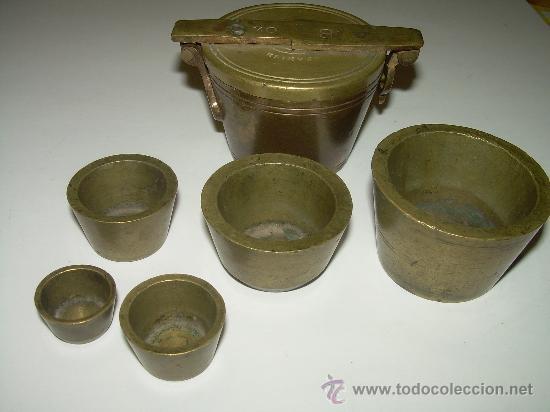Antigüedades: PONDERALES PARA PESAR POLVO DE ORO. - Foto 6 - 29427172