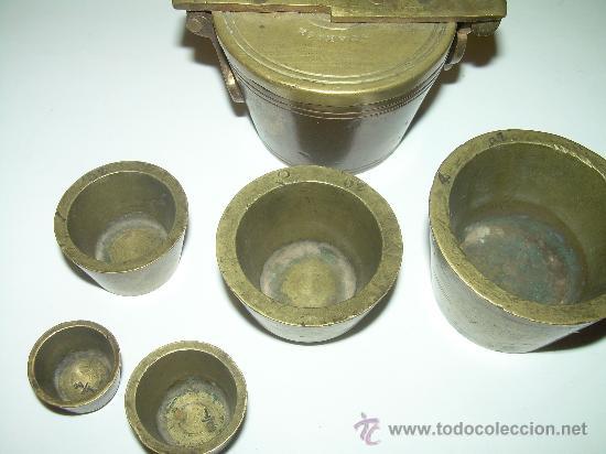 Antigüedades: PONDERALES PARA PESAR POLVO DE ORO. - Foto 7 - 29427172