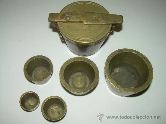 Antigüedades: PONDERALES PARA PESAR POLVO DE ORO. - Foto 8 - 29427172