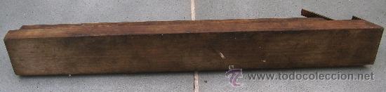Antigüedades: cepillo para yeso / yesero (48.5x6x7cm aprox, cuchilla 6cm aprox) - Foto 4 - 29557265