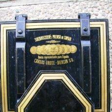 Antiquitäten - prensa de copiar. carlos grote, berlin s.o unico representante en españa pieza de museo - 29575813