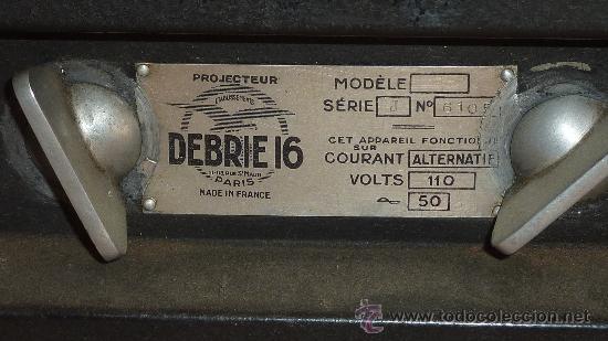 Antigüedades: Antiguo proyector debrie 16, frances. Desconozco del tema. - Foto 7 - 29586502