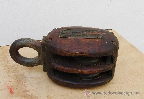 Polea antigua de madera de barco comprar antig edades - Antiguedades de barcos ...