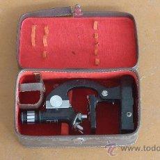 Antigüedades: ANTIGUO MICROSCOPIO MARCA DENKAR ZOOM 50X-900X. EN SU CAJA ORIGINAL.. Lote 29699662