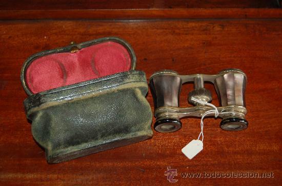 ANTIGUOS PRISMATICOS DE AÑOS 30S CON FUNDA. EN NACAR, PRECIOSOS. (Antigüedades - Técnicas - Instrumentos Ópticos - Prismáticos Antiguos)