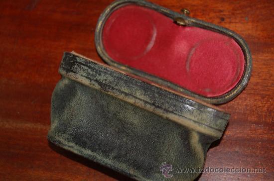 Antigüedades: Antiguos prismaticos de años 30s con funda. En nacar, preciosos. - Foto 5 - 29781520