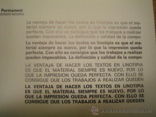 Antigüedades: IMPRENTA - MUESTRARIO DE TIPOS DE LINOTIPIA - Foto 2 - 29816602
