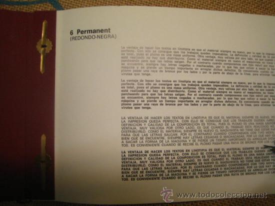 Antigüedades: IMPRENTA - MUESTRARIO DE TIPOS DE LINOTIPIA - Foto 3 - 29816602