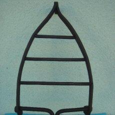 Antigüedades: BASE PARA PLANCHA ANTIGÜA DE HIERRO EN FORJA. DIMENSIONES.- 24X13,5 CMS.. Lote 29906721
