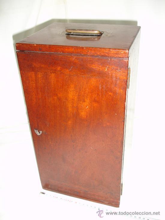 Antigüedades: Precioso microscopio Inglés / Alrededor de 1880 - Foto 2 - 30002757
