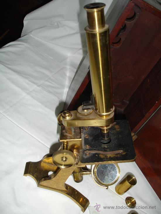 Antigüedades: Precioso microscopio Inglés / Alrededor de 1880 - Foto 6 - 30002757