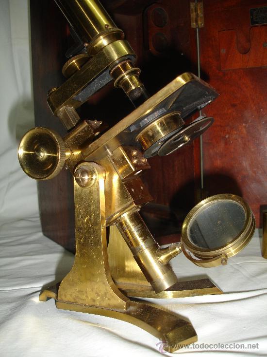 Antigüedades: Precioso microscopio Inglés / Alrededor de 1880 - Foto 7 - 30002757