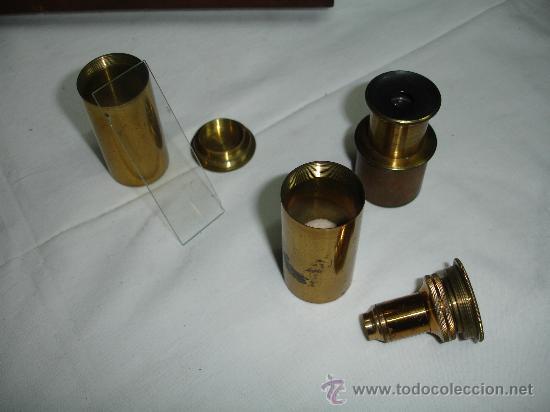 Antigüedades: Precioso microscopio Inglés / Alrededor de 1880 - Foto 8 - 30002757