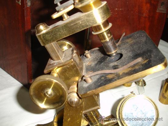 Antigüedades: Precioso microscopio Inglés / Alrededor de 1880 - Foto 9 - 30002757