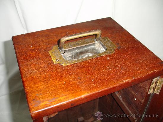 Antigüedades: Precioso microscopio Inglés / Alrededor de 1880 - Foto 12 - 30002757