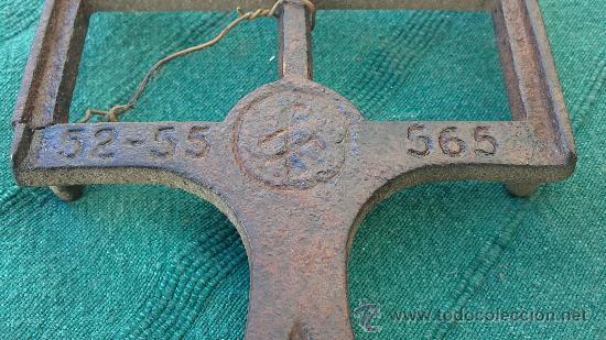 Antigüedades: PIE DE PLANCHA( PIE, SOPORTE O PLANCHERO ) - Foto 4 - 29981725