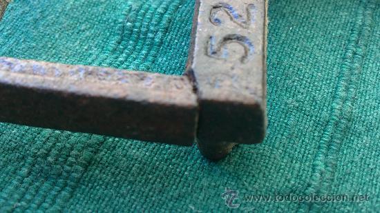 Antigüedades: PIE DE PLANCHA( PIE, SOPORTE O PLANCHERO ) - Foto 3 - 29981725