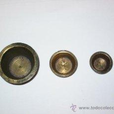 Antigüedades: PONDERALES DE VASOS ANIDADOS. Lote 30134893