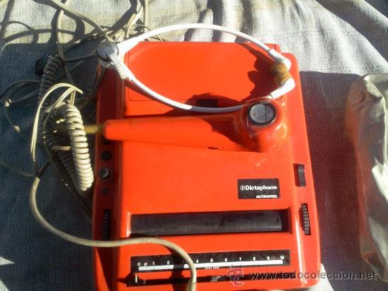 Antigüedades: Dictaphono Ultravox de cinta, con microfono, auriculares y pedal - Foto 2 - 30182835
