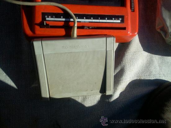 Antigüedades: Dictaphono Ultravox de cinta, con microfono, auriculares y pedal - Foto 3 - 30182835