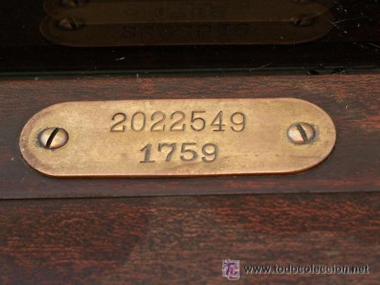 Antigüedades: CAJA REGISTRADORA NATIONAL USA DE 1922 - Foto 7 - 30205513