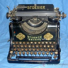 Antigüedades: MAQUINA DE ESCRIBIR STOEWER RECORD. Lote 30239514