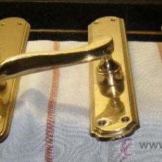 Antigüedades: TRES MANILLAS DE BRONCE. Lote 30277085