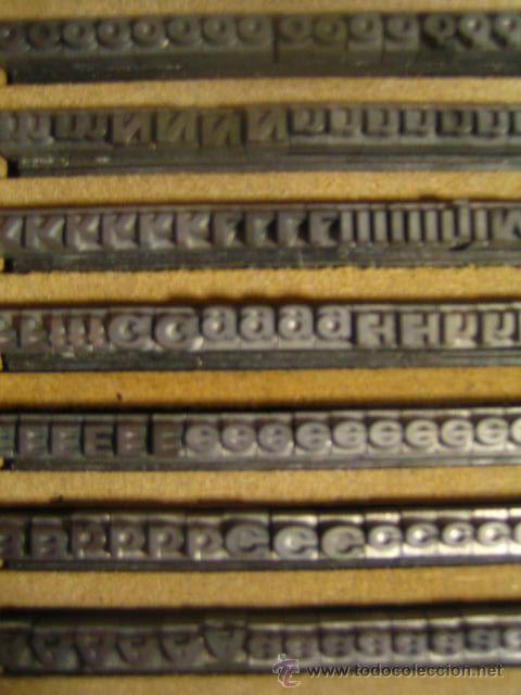 IMPRENTA - ESTUCHE DE LETRAS DE PLOMO - CUERPO 10 FOLIO ANCHA NEGRA (Antigüedades - Técnicas - Herramientas Profesionales - Imprenta)