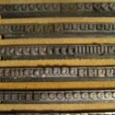 Antigüedades: IMPRENTA - ESTUCHE DE LETRAS DE PLOMO - CUERPO 10 FOLIO ANCHA NEGRA. Lote 30287593