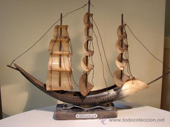 BARCO DE ASTA DE TORO.VENEZIA. ESPAÑA AÑOS 50 (Antigüedades - Antigüedades Técnicas - Marinas y Navales)