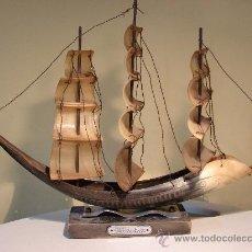 Antigüedades: BARCO DE ASTA DE TORO.VENEZIA. ESPAÑA AÑOS 50. Lote 30288484
