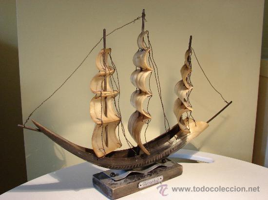 Antigüedades: BARCO DE ASTA DE TORO.VENEZIA. ESPAÑA AÑOS 50 - Foto 2 - 30288484