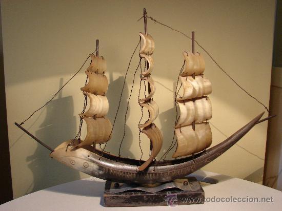 Antigüedades: BARCO DE ASTA DE TORO.VENEZIA. ESPAÑA AÑOS 50 - Foto 3 - 30288484