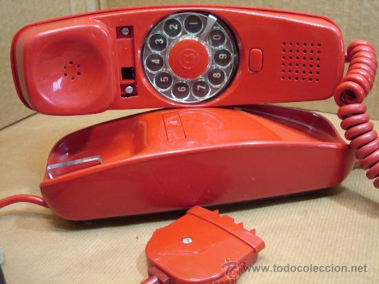 TELEFONO GONDOLA - CITESA MALAGA - ROJO ORIGINAL ¡¡¡ FUNCIONANDO ¡¡¡ CABLE ORIGINAL (Antigüedades - Técnicas - Teléfonos Antiguos)