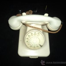 Teléfonos: TELEFONO SOBREMESA. BAQUELITA. BLANCO MARFIL. . PESA 2KG. MARCA POST. Lote 30375915