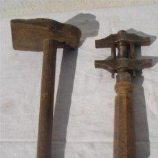 Antigüedades: 2 HERRAMIENTAS DE CARPINTERIA. Lote 30413975