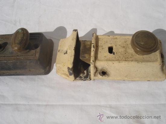 Antigüedades: 3 juegos de cerraduras antiguas - Foto 3 - 30414025
