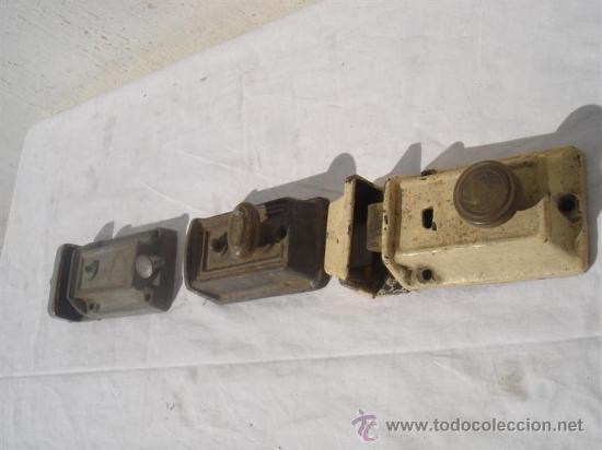 Antigüedades: 3 juegos de cerraduras antiguas - Foto 4 - 30414025