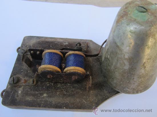 Antigüedades: antiguo timbre de puerta , campana , posiblemente 125 voltios - Foto 2 - 30444020