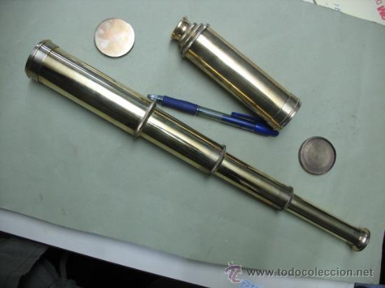 CATALEJO MODERNO LATON-BRONCE REPRO (Antigüedades - Técnicas - Instrumentos Ópticos - Catalejos Antiguos)
