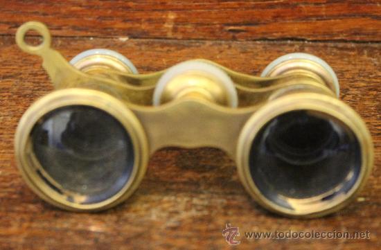 Antigüedades: ANTIGUOS PRISMÁTICOS O BINOCULARES DE TEATRO EN BRONCE - Foto 3 - 42817319