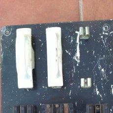 Antigüedades: &-CUADRO ELECTRICO DE MARMOL/PIZARA-(FUSIBLES PORCELANA,CONMUTADORES/INTERUPTORES). Lote 30470772