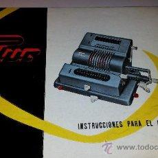 Antigüedades: INSTRUCCIONES MÁQUINA CALCULADORA PHUC EN ESPAÑOL. Lote 31541706