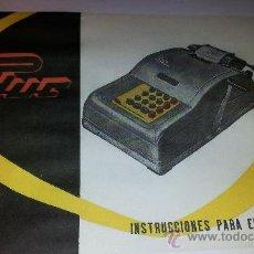 Antigüedades: INSTRUCCIONES MÁQUINA CALCULADORA PHUC EN ESPAÑOL. Lote 30491650
